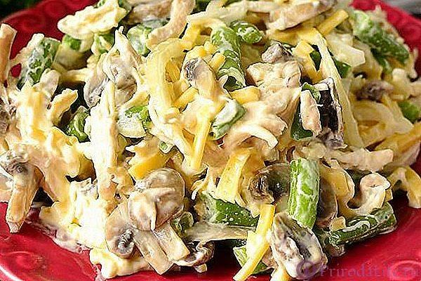 Салат из курицы и маринованных грибов рецепт