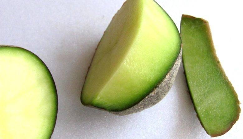 Почему картошка позеленела