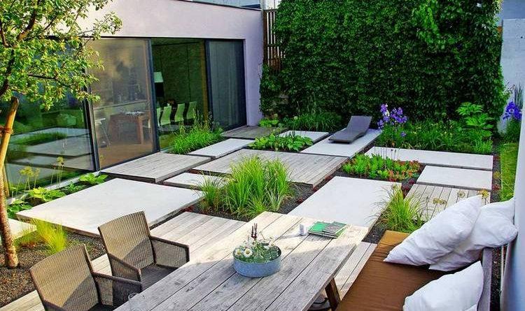 Сад в стиле модерн фото
