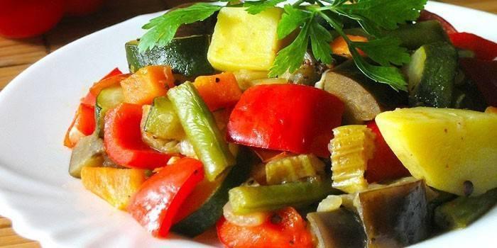 Диетические овощные блюда для похудения