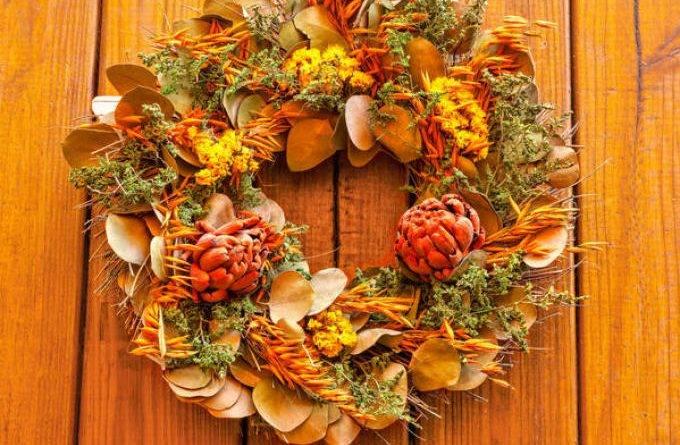 Осенний букет из природного материала