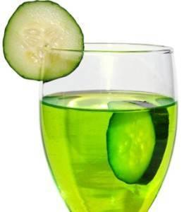 Огуречная вода для лица