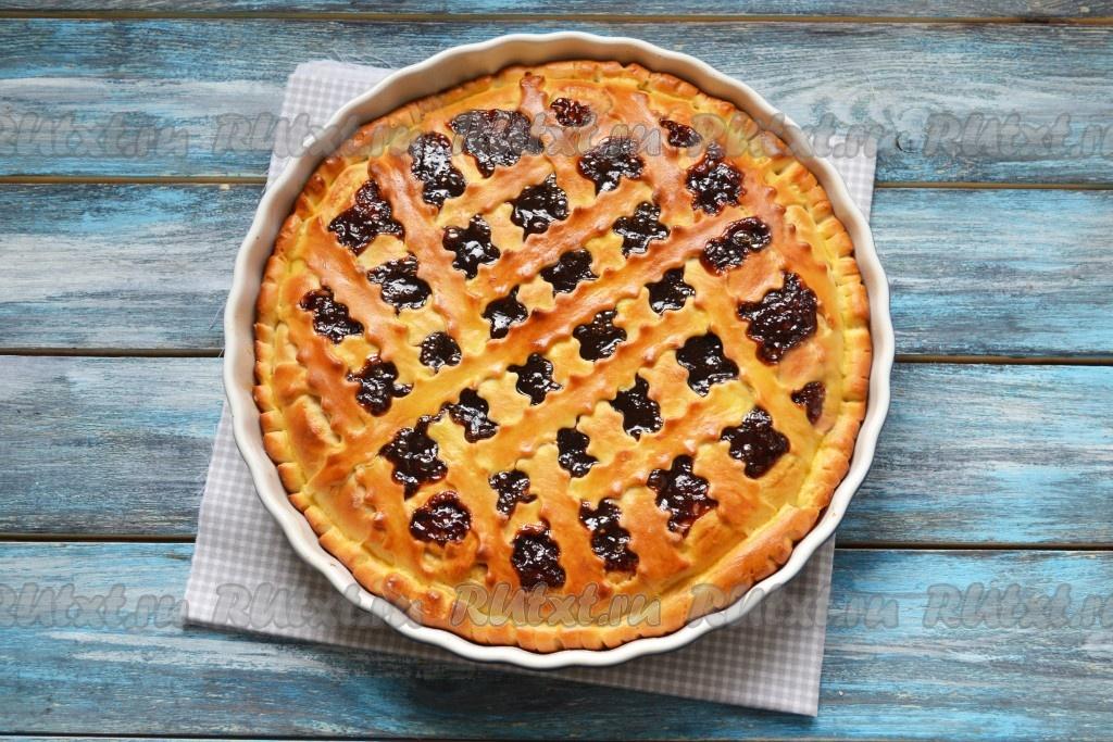 Как приготовить пирог с вареньем в духовке с малиновым вареньем
