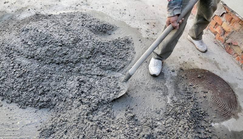 Работа с цементом