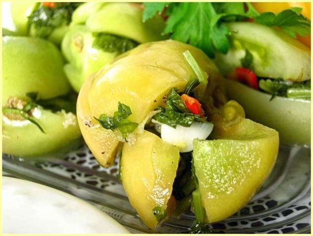 Блюда из зеленых помидоров рецепты