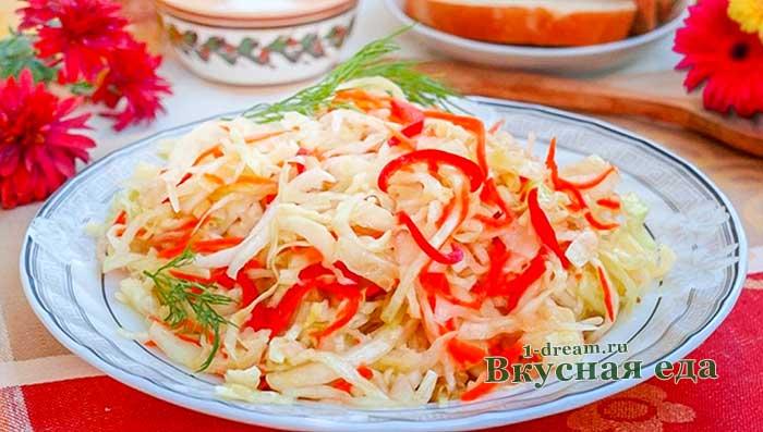 Как приготовить вкусную капусту маринованную