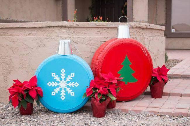 Уличные украшения к новому году
