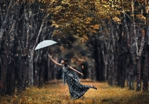 Необычная фотосессия осенью