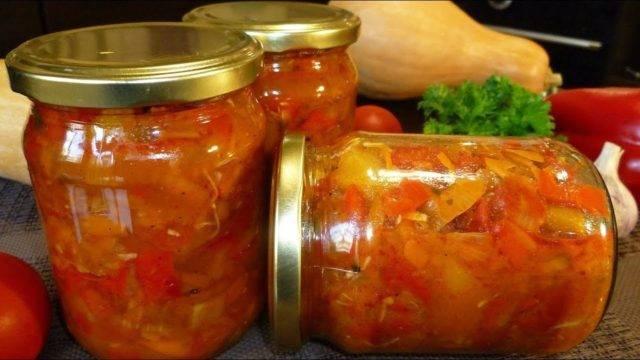 Салат из тыквы на зиму рецепты