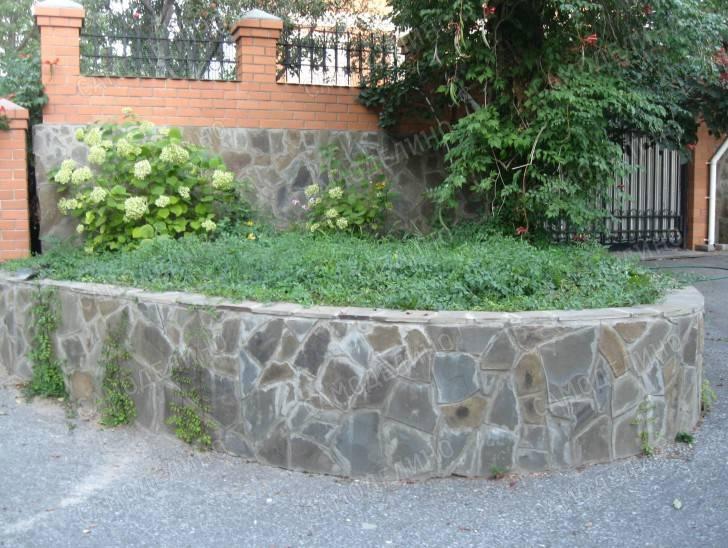 Опорная стена из бетона