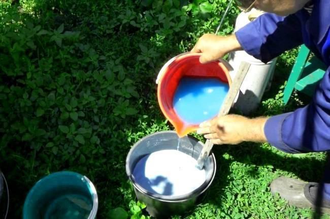 Приготовление бордосской жидкости для винограда