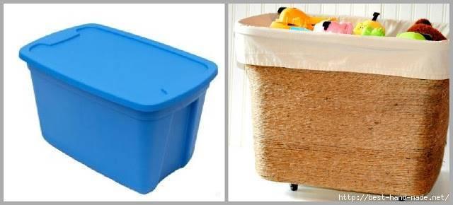 Как украсить пластиковый контейнер