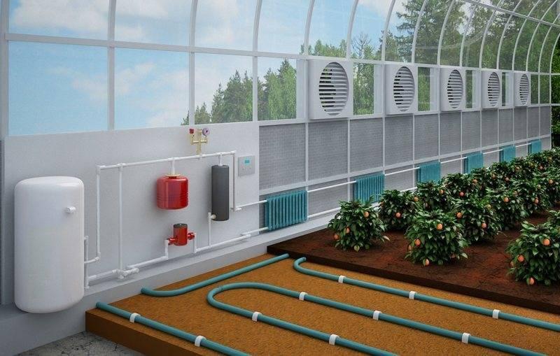 система отопления для теплицы зимой