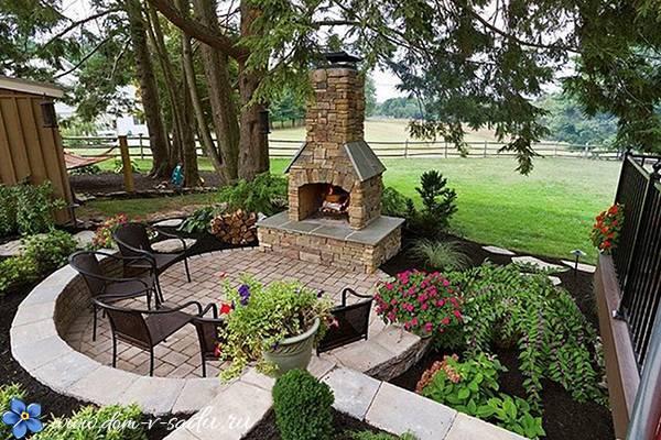 Как красиво оформить двор частного дома фото