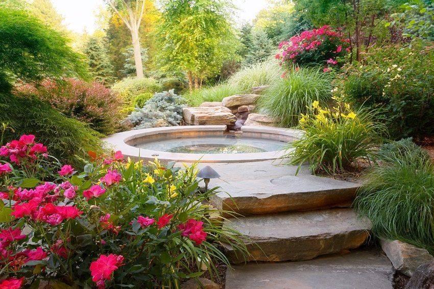 Огород и сад дизайна маленький участок фото