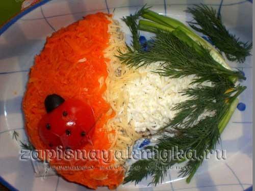 Салат грибок рецепт с фото