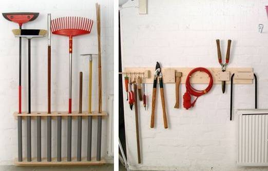 Как хранить садовый инвентарь на даче