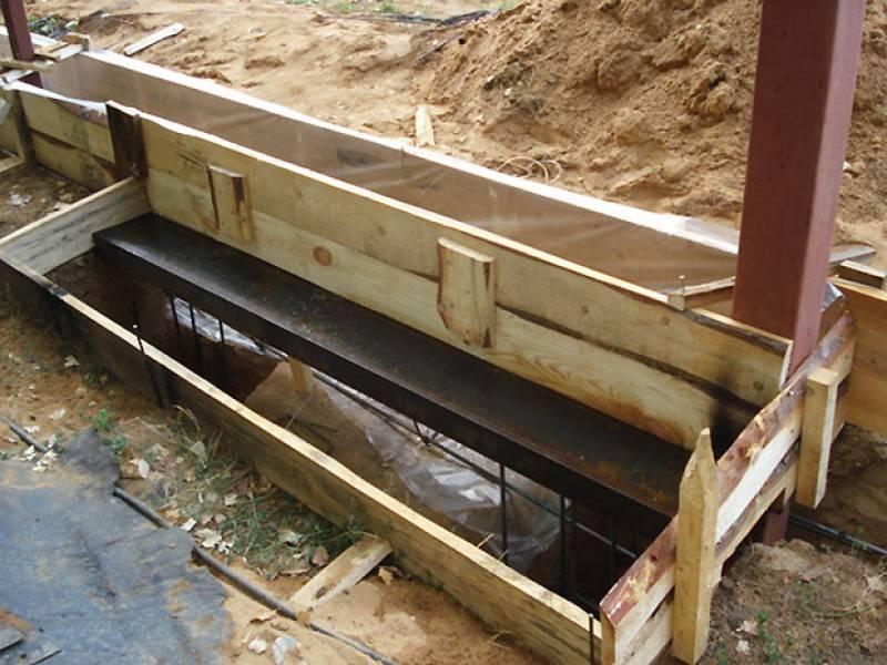 как залить бетон под откатные ворота