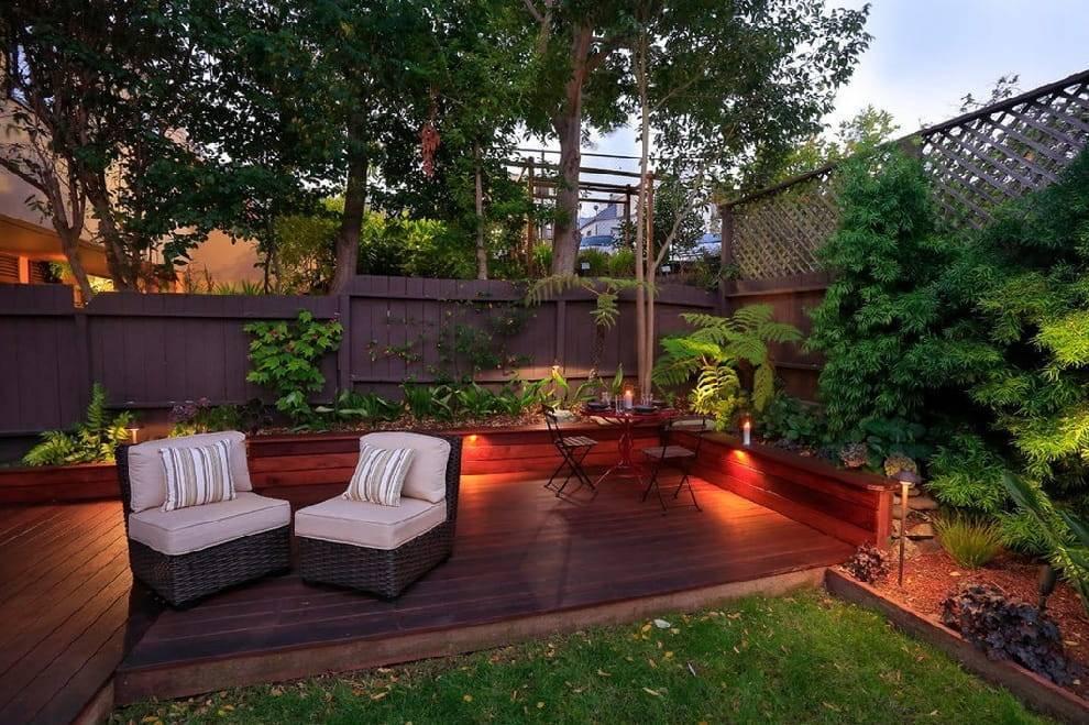 Дизайн частного двора и сада фото