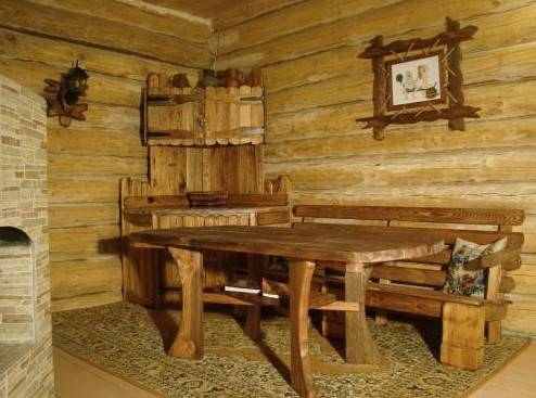 Внутренняя отделка комнаты отдыха в бане