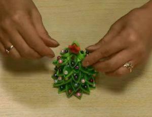 Как сделать елку из картона