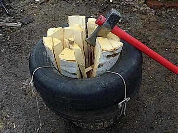Способы колки дров