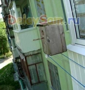 Скворечник на балконе