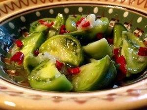 Зеленые помидоры рецепты быстро