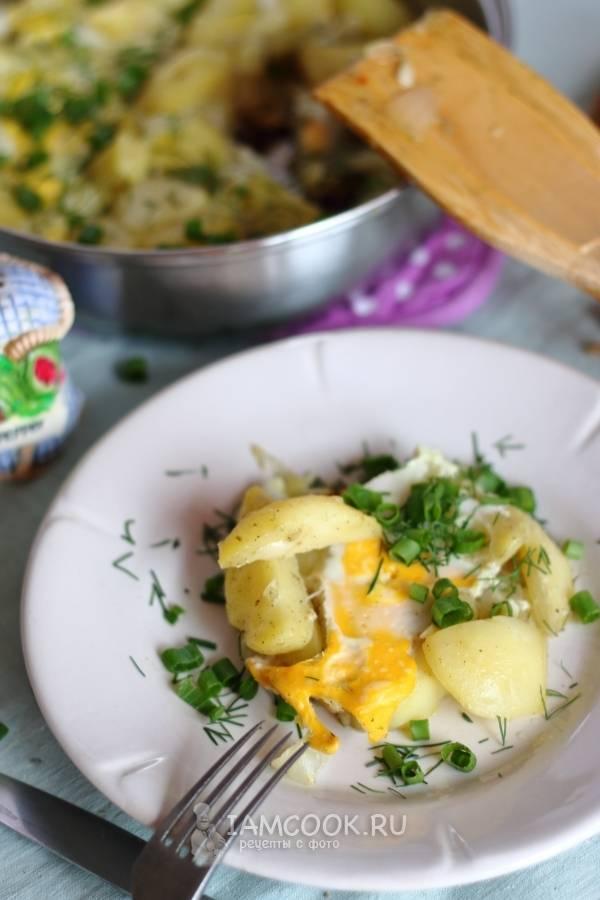 Вкусное блюдо из картошки и яиц