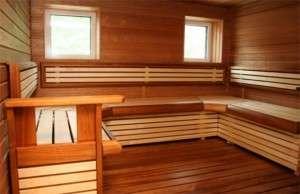Фото интерьера бани внутри