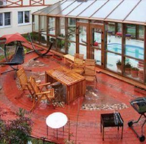 Зимний бассейн на даче