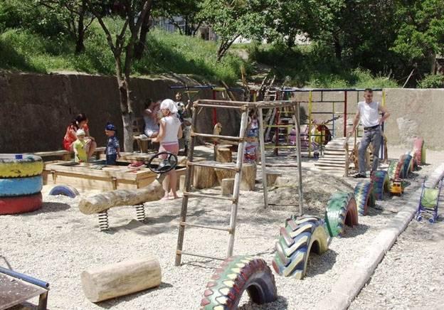 Детская площадка план