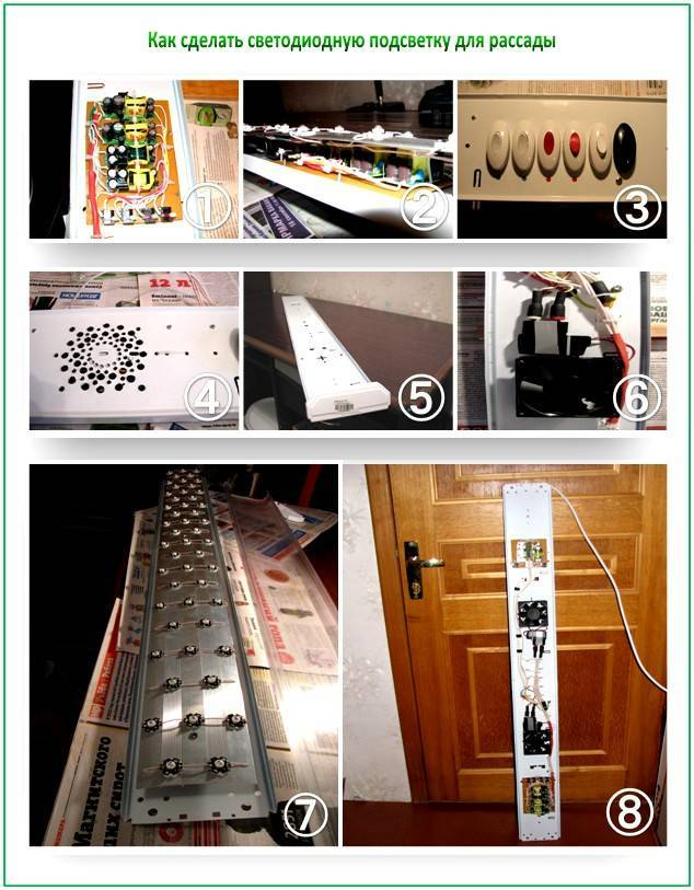 Светильники для рассады в домашних условиях