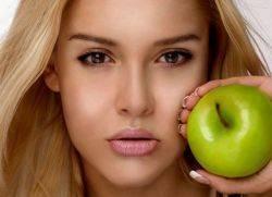 Маска для волос из яблок