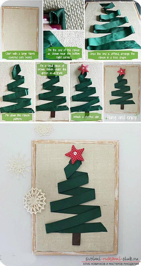 Как сделать елку из бумаги для открытки