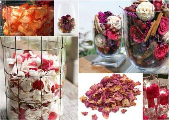 Сухие лепестки роз применение в декоре