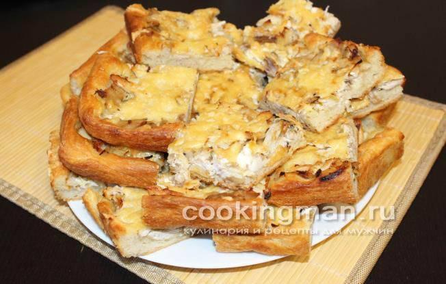 Тесто для пирога на воде с дрожжами