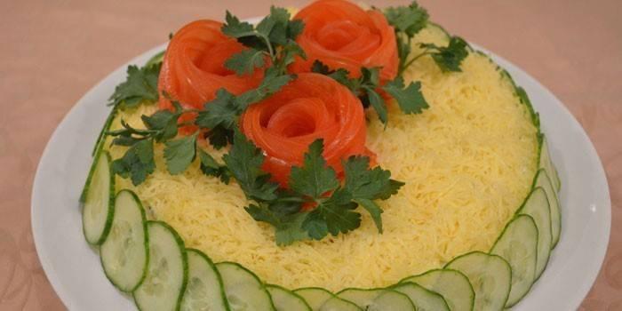 Салат из маринованных грибов рецепты