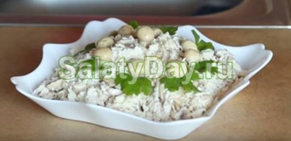 Салаты с маринованными шампиньонами рецепты с фото