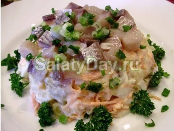 Салат с маринованными грибами рецепт с фото