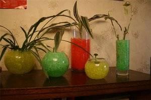 Гелевые шарики для цветов как использовать