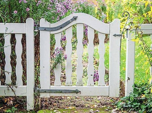 Ворота на участок фото