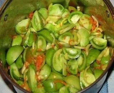 Тушеные зеленые помидоры рецепт