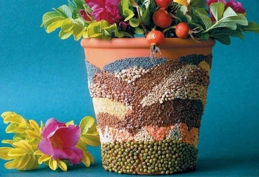 Оформление цветочных горшков