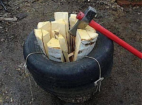 Как быстро расколоть дрова