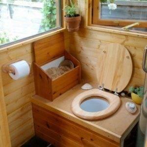 Как почистить туалет на улице