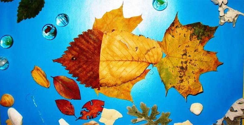 Декор из листьев