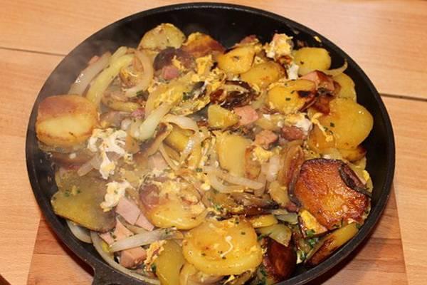Рецепты с картошкой на сковороде
