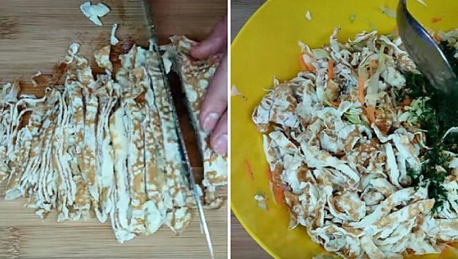 Салат из капусты и лука