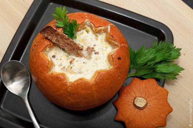 Суп в тыкве рецепт с фото